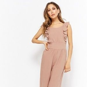 Forever 21 Ruffle Smocked Jumpsuit | Size S